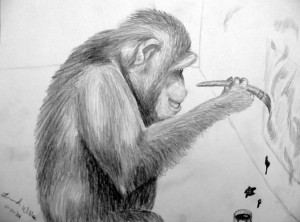 Chimp-painting_grey